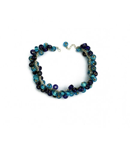 Adzo Jungle Blue Necklace