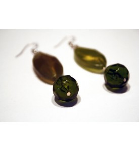Adzo Passion Green Teardrop Earrings
