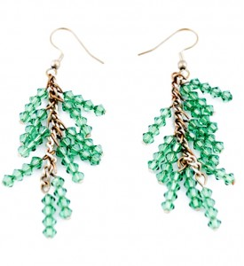 Adzo sparkle green drop earrings