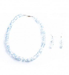 Adzo pale blue necklace