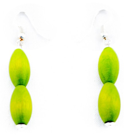 Adzo wood lime earrings