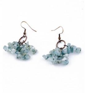 Adzo grapevine aquamarine earrings